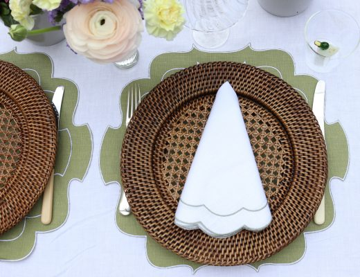easter tablescape green