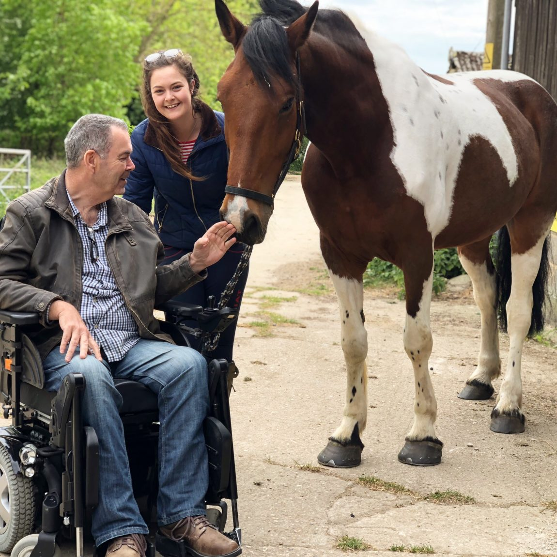 hollie-ella father disabled and horse