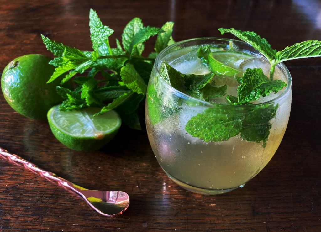 moscow mule vodka, lime and ginger beer cocktail by charlotte corteil
