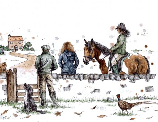 in the country 2021 calendar cover eleanor tomlinson horse country scene